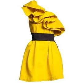Lanvin for H&M - Yellow belted dress