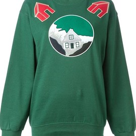 Andrea Incontri - Embroidered patch sweatshirt