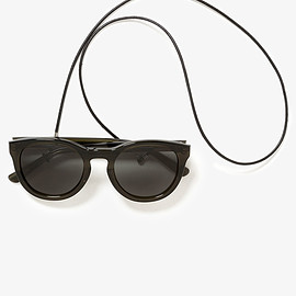 nonnative - DWELLER SUNGLASSES WITH LEATHER CODE
