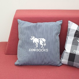 COW BOOKS - Reading Cushion #stripe
