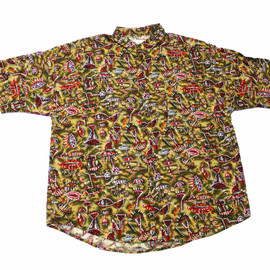 VINTAGE - Vintage 90s All Over Print Rayon Button Up Shirt Made in USA Mens Size XL
