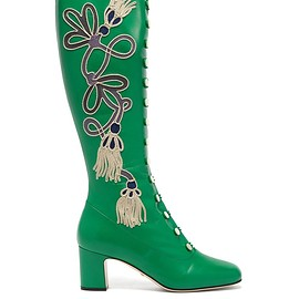 GUCCI - Resort 2019 Amaya embroidered leather boots