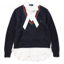 FRED PERRY - ●FRED PERRY×MUVEIL / ケーブル編み ニット