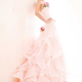 atelier aimee - pink wedding dress