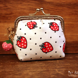 sunbird -   Clip Purse ~ strawberry
