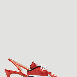 Ancuta Sarca - Upcycled Kitten Heels in Red