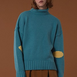 ader error - Circle color matching knit mint