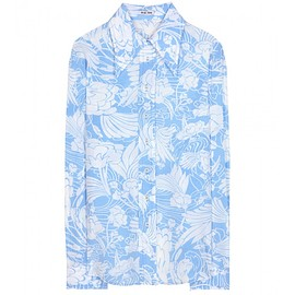 miu miu - Resort2015 Printed silk shirt