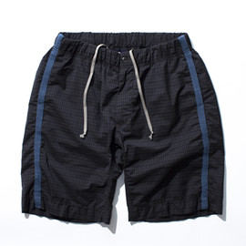 nanamica - Trail Shorts Charcoal Gingham
