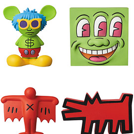 MEDICOM TOY - MINI VCD KEITH HARING Andy Mouse/Three Eyed Smiling Face/Flying Devil/Barking Dog
