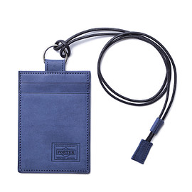 "HEAD PORTER - ""ORCIA"" PASS CASE BLUE"