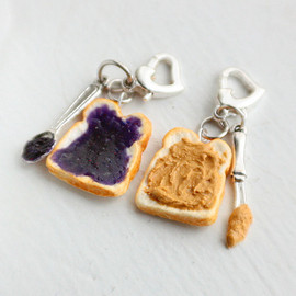 bookmarksnrings - Peanut Butter or Grape Jelly Charm Food Charm