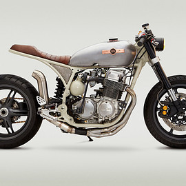 HONDA - Star Struck: A NASA-inspired Honda CB 750 cafe racer.