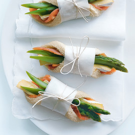 donna hay - salmon, brie and asparagus fingers