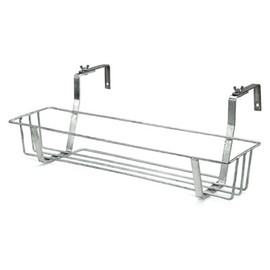 MANUFACTUM - Galvanized Steel Balcony Pot / Box Holder Small