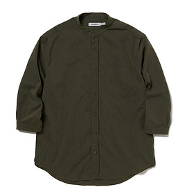 nonnative - OFFICER SHIRT Q/S RELAXED FIT P/L WEATHER STRETCH COOLMAX®