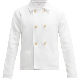 Connolly - Cropped double-breasted cotton blazer