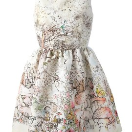 RED VALENTINO - printed sleeveless dress