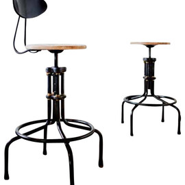 V19C-B Counter Stool with Backrest, Weathered Oak, Set of 2 eclectic bar stools and counter stools