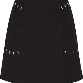 3.1 Phillip Lim - Embellished wool-blend twill mini skirt