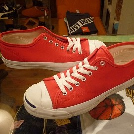 "converse - 「<used>90's converse JACKPURCELL OX red/navysmile""made in USA"" size:US9(27.5cm) 12800yen」販売中"