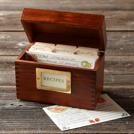 Williams-Sonoma - ウッドレシピボックス Wood Recipe Box