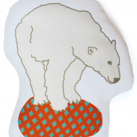 MIMI lou - bear stuffed pillow