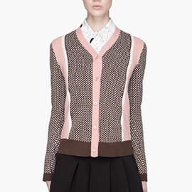 MARNI - MARNI Pink and brown knit Cardigan