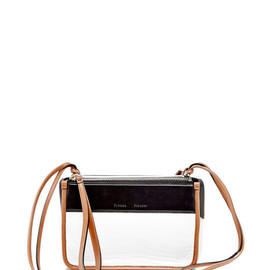 PROENZA SCHOULER - SS2015 Crocodile And Shiny Calf White And Black Z Crossbody
