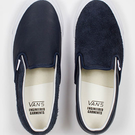 Engineered Garments, Vans - OG CLASSIC SLIP-ON Navy