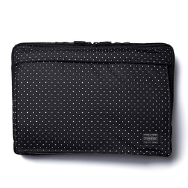 "HEAD PORTER - ""DOT"" LAPTOP CASE 13inch BLACK"
