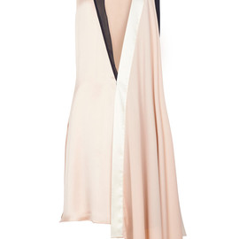Bouchra Jarrar - Silk Georgette Deep V Dress