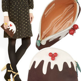 Charlotte Olympia - Christmas Pudding Clutch