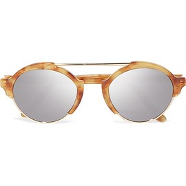 Illesteva - Milan III gold-tone and acetate mirrored sunglasses