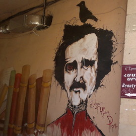 Edgar Allan Poe. Graffiti in Yerevan, Armenia