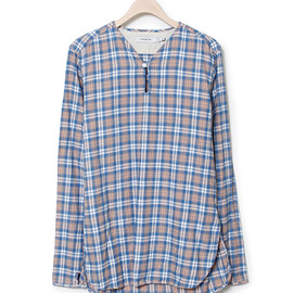 nonnative - SLEEPER SHIRT - COTTON INDIGO CHECK