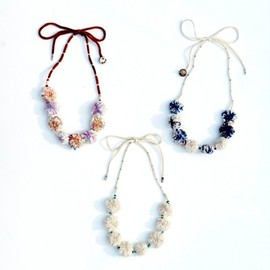 su:no - Cotton×Deerskin Necklace Short