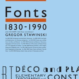 Gregor Stawinski - Retro Fonts 1830-1990 世界のレトロフォント大事典 with CD-ROM