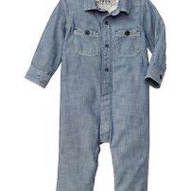 GAP - Chambray button one-piece