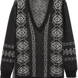 SAINT LAURENT - Fair Isle wool-blend sweater