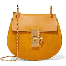 Chloé - Drew mini leather and suede shoulder bag