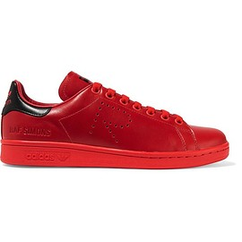 Adidas Originals - + Raf Simons Stan Smith perforated leather sneakers
