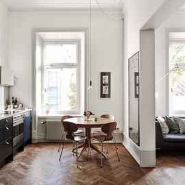 my scandinavian home - FAB KITCHEN AND SITTING ROOM IN A SWEDISH APARTMENT H