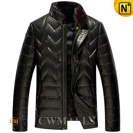 Cwmalls - Stockholm Mens Quilted Leather Jackets CW846039