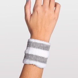 American Apparel - Wristband white and grey