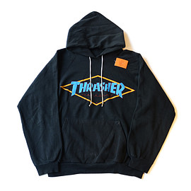 THRASHER - Diamond logo Sweat Hoodie 80's