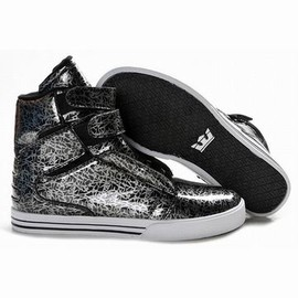 men supra tk society 2012 high tops black silver new shoes - men supra tk society 2012 high tops black silver new shoes
