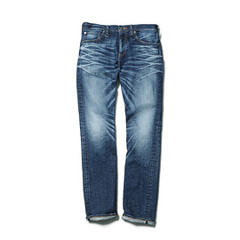 SOPHNET. - SLIM-FIT STRETCH JEANS (DAMAGED)