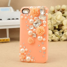 hallomall - Lovely Princess Rose With Pearl IPhone 4/4S Case