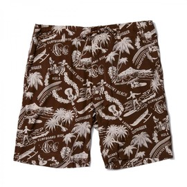 HEAD PORTER PLUS - ALOHA SHORTS BROWN